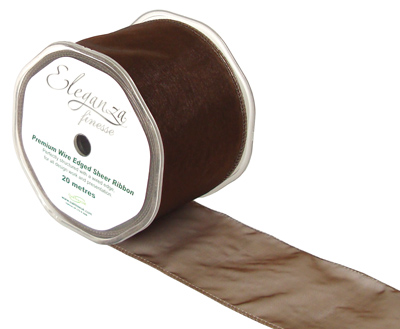 70mm x 20m Chocolate - Ribbons