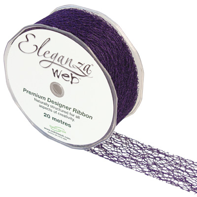 Web Ribbon 38mm x 20m Purple No.36 - Ribbons