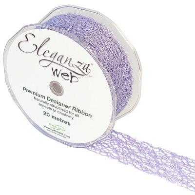 Web Ribbon 38mm x 20m Lavender No.45 - Ribbons