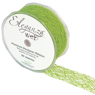 Web Ribbon 38mm x 20m Lime Green No.14 - Ribbons