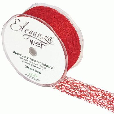 Web Ribbon 38mm x 20m Red No.16 - Ribbons