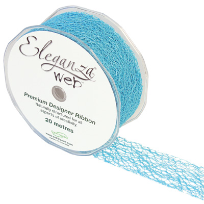 Web Ribbon 38mm x 20m Aqua Blue No.26 - Ribbons