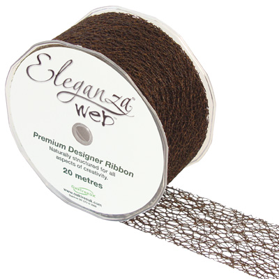 Web Ribbon 50mm x 20m Chocolate No.58 - Ribbons