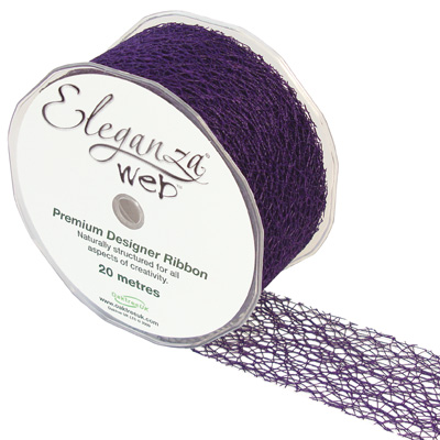 Web Ribbon 50mm x 20m Purple No.36 - Ribbons
