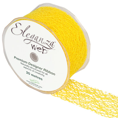 Web Ribbon 50mm x 20m Yellow No.11 - Ribbons