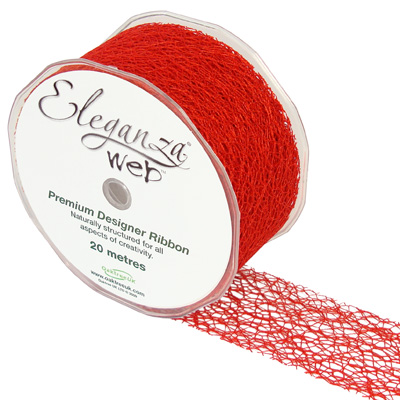 Web Ribbon 50mm x 20m Red No.16 - Ribbons