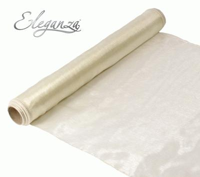Woven Edge Organza 40cm x 9m Ivory - Organza / Fabric