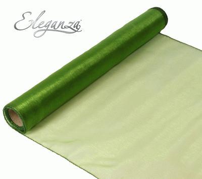 Woven Edge Organza 40cm x 9m Pistachio - Organza / Fabric