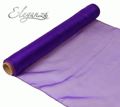 Woven Edge Organza 40cm x 9m Purple - Organza / Fabric
