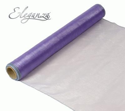 Woven Edge Organza 40cm x 9m Lavender - Organza / Fabric