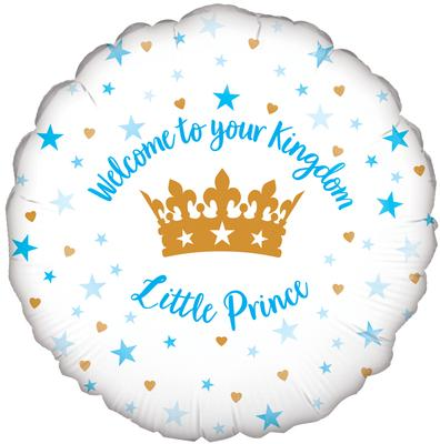 Oaktree 18inch Welcome Little Prince Stars Holographic - Foil Balloons