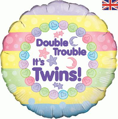 Double Trouble It's Twins - Foil Balloons