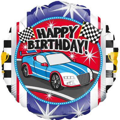 Oaktree Sports Car Birthday - Foil Balloons