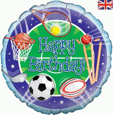Oaktree Happy Birthday Sports - Foil Balloons