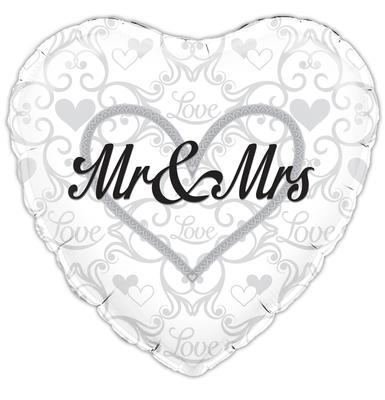 Oaktree Mr and Mrs - Foil Balloons