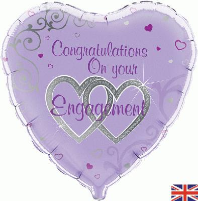 Congratulations On Your Engagement - Foil Balloons