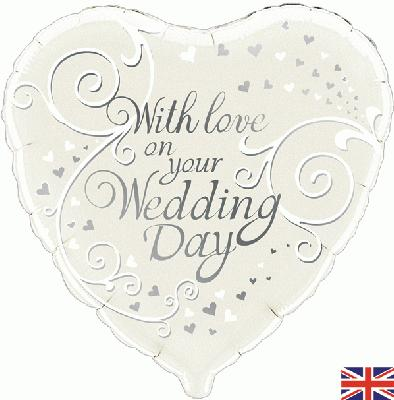 With Love On Your Wedding Day - Foil Balloons