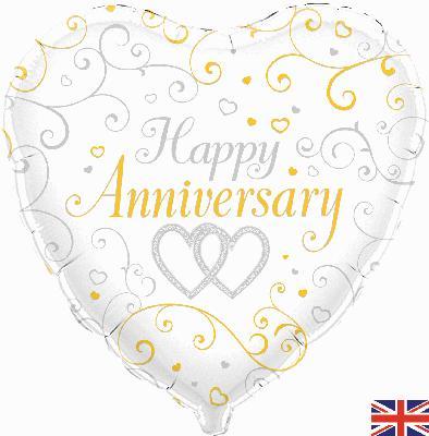 Oaktree Happy Anniversary - Foil Balloons