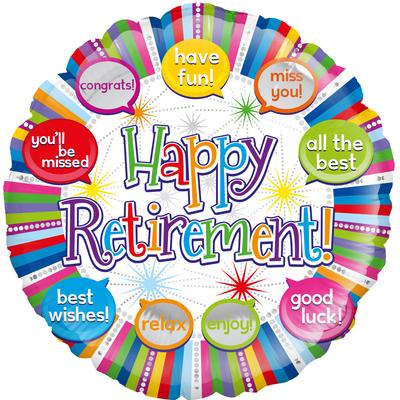 Oaktree Retirement Speech Bubbles - Foil Balloons
