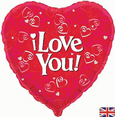 Oaktree I Love You! - Foil Balloons