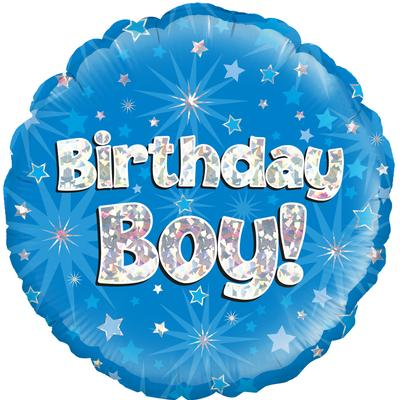 Oaktree Birthday Boy Holographic - Foil Balloons