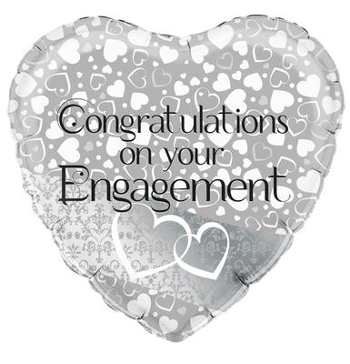 Oaktree Entwined Hearts Engagement - Foil Balloons
