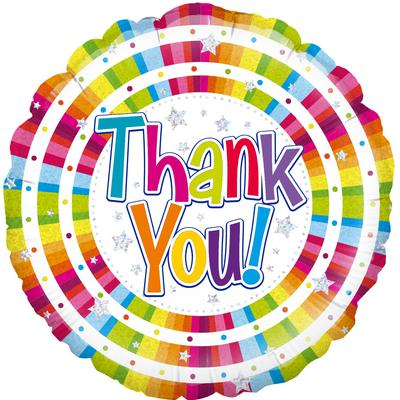 Oaktree Bright Thank You - Holographic - Foil Balloons