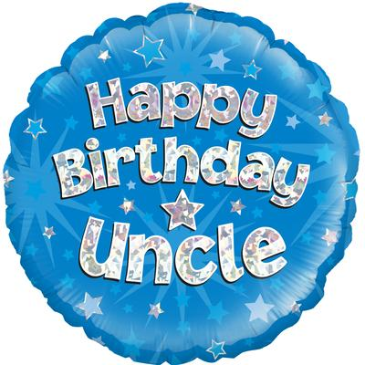 Oaktree Happy Birthday Uncle holographic - Foil Balloons