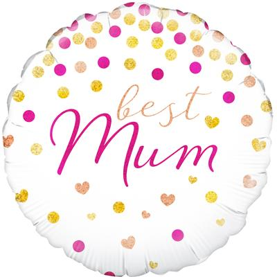 Oaktree Best Mum Holographic - Foil Balloons