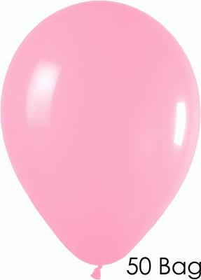 11inch Fashion Solid 009 Bubble Gum Pink x50 - Latex Balloons