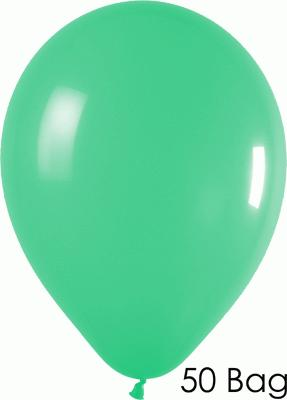11inch Fashion Solid 030 Green x50 - Latex Balloons