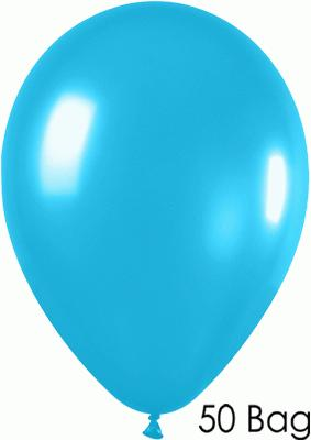 11inch Fashion Solid 038 Caribbean Blue x50 - Latex Balloons