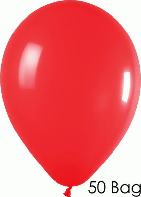 11inch Fashion Solid 015 Red x50 - Latex Balloons