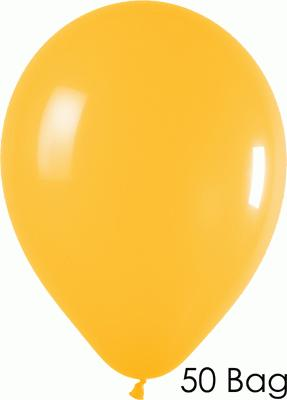 11inch Fashion Solid 021 Goldenrod x50 - Latex Balloons