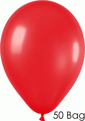 11inch Metallic 515 Red x50 - Latex Balloons