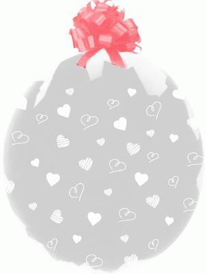 Clear Stuffing Balloon Hearts ST-18-H1 - Seasonal