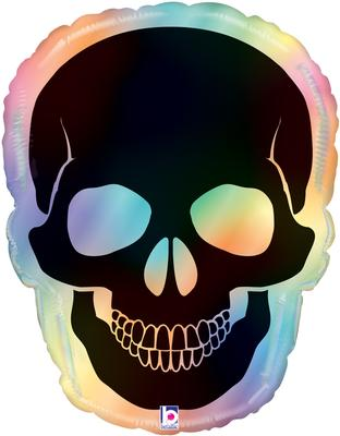 Betallic 27inch Shape Opal Skull Holographic (C) Packaged - Seasonal