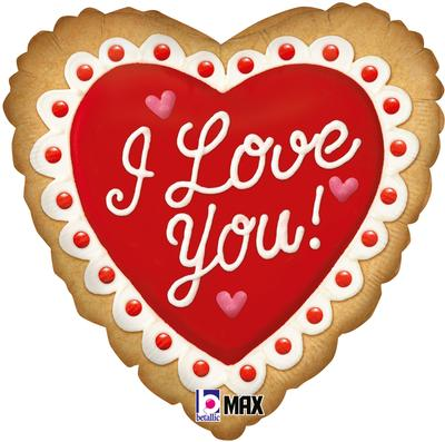 Betallic 18inch I Love You Cookie - Foil Balloons