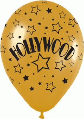 All Over Hollywood Metallic Gold - Latex Balloons