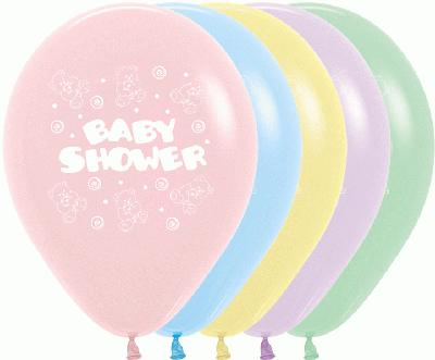 11inch Pastel Assorted Baby Shower x50 - Latex Balloons