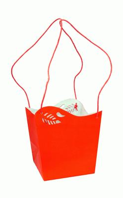 Bahia Bag Medium 14.5 x 14.5 x 16cm Red x 10pcs - Accessories