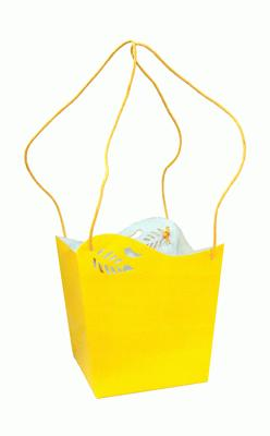 Bahia Bag Medium 14.5x14.5x16cm Yellow x 10pcs - Accessories