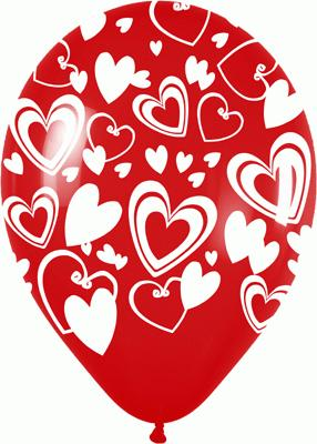 Allover Premium Crystal Large Hearts I-H1-315 x50 - Seasonal