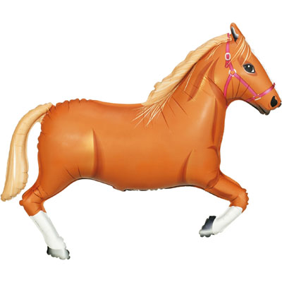 43inch / 109cm Light Brown Horse Packaged - Foil Balloons
