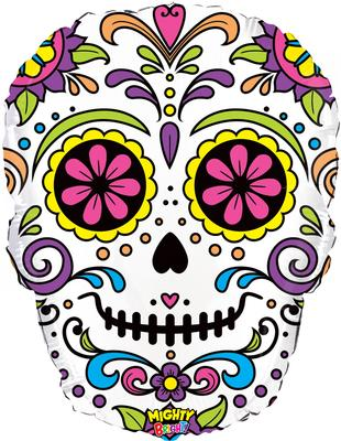 27inch Mighty Sugar Skull Packaged - Seasonal