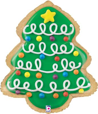 "Betallic 25"" Shape Christmas Tree Cookie (B) Pkg - Seasonal"