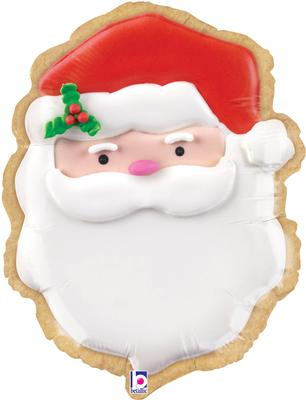 "Betallic 24"" Shape Santa Cookie (B) Pkg - Seasonal"