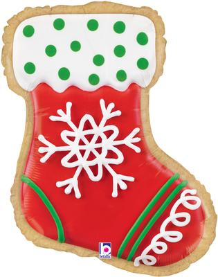 "Betallic 27"" Shape Stocking Cookie (B) Pkg - Seasonal"
