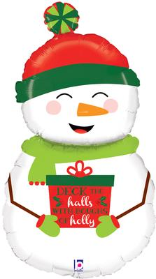 Betallic 40inch Shape Holiday Snowman (D) Pkg - Seasonal