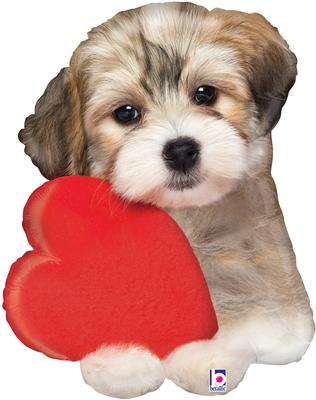 Betallic 29inch Shape Adorable Puppy Love (C) Pkg - Foil Balloons